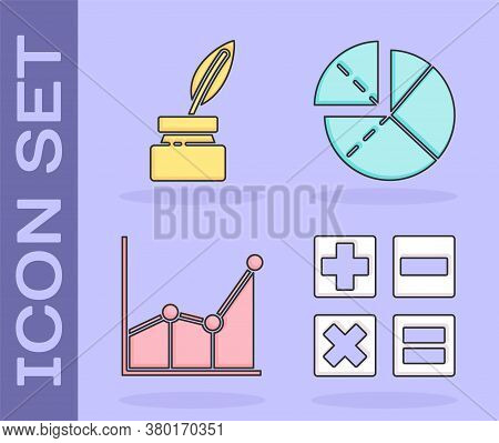 Set Calculator, Feather And Inkwell, Graph, Schedule, Chart, Diagram And Graph, Schedule, Chart, Dia