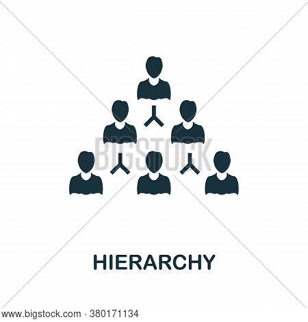 Hierarchy Icon. Simple Element From Business Intelligence Collection. Creative Hierarchy Icon For We