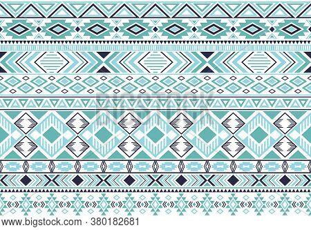 Rhombus And Triangle Symbols Tribal Ethnic Motifs Geometric Seamless Background. Eclectic Gypsy Trib