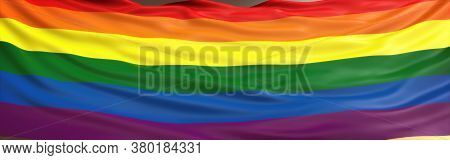 Lgbt Flag Hires Background. Lgbt Flag Or Rainbow Pride Flag Include Of Lesbian, Gay, Bisexual, And T