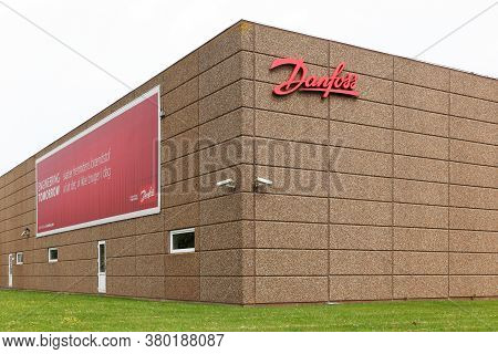 Vejle, Denmark - May 29, 2016: Danfoss Factory In Denmark. Danfoss Group Is A Global Producer Of Pro