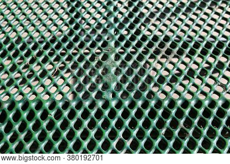Green Rubber Coated Outdoors Metal Prison Park Picnic Table Suitable For Website Background Marketin