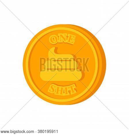 Shit Coin. One Bullshit Alternative Coin. Monetary System Concept