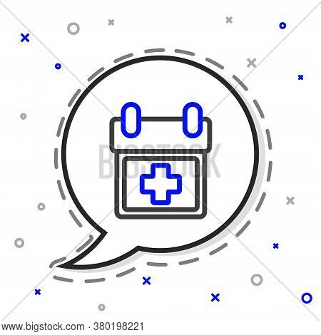 Line Doctor Appointment Icon Isolated On White Background. Calendar, Planning Board, Agenda, Consult