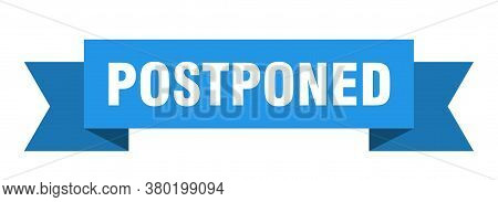 Postponed Ribbon. Postponed Isolated Band Sign. Banner