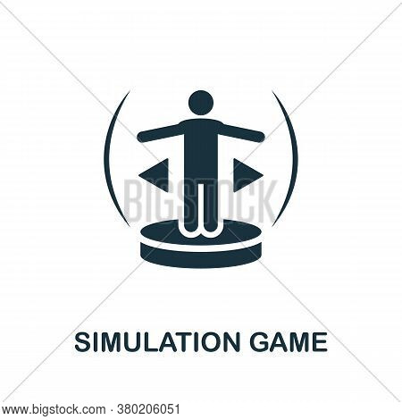 Simulation Game Icon. Simple Element From Game Development Collection. Filled Simulation Game Icon F