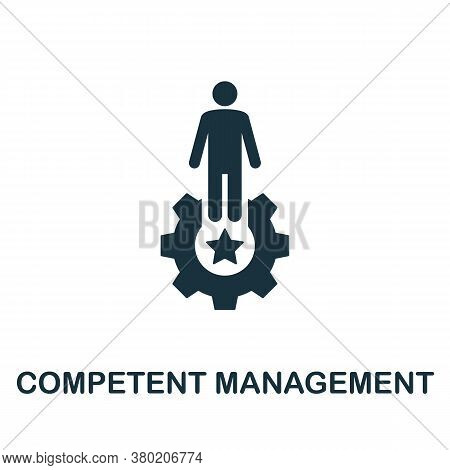 Competent Management Icon. Simple Element From Business Technology Collection. Filled Competent Mana
