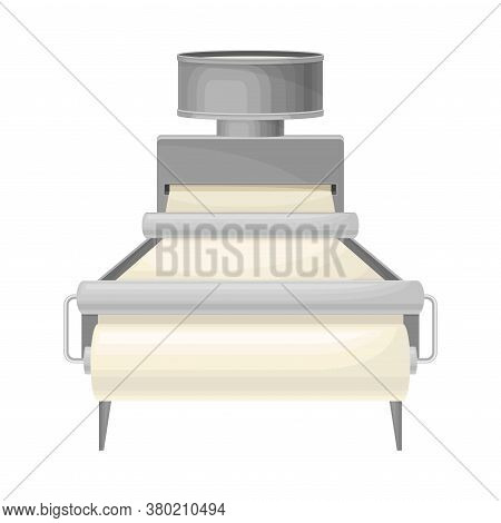 Paper Production And Recycling With Raw Material Calendering And Rolling Into Rolls Vector Illustrat