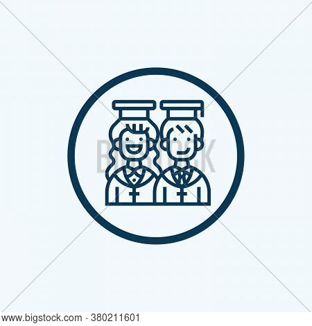 Graduation Icon Isolated On White Background From Startup Collection. Graduation Icon Trendy And Mod
