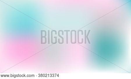 Defocused Mesh Vector Background, Hologram Neon Overlay. Funky Pink, Purple, Turquoise Dreamy Noble