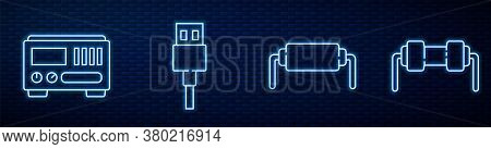 Set Line Resistor Electricity, Electrical Measuring Instruments, Usb Cable Cord And Resistor Electri