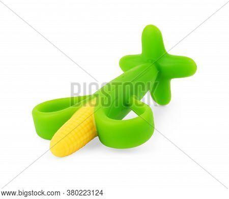 Children's Toy A Plastic, Corn Isolated On White