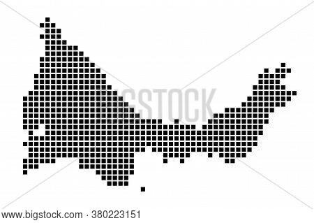 Providenciales Map. Map Of Providenciales In Dotted Style. Borders Of The Island Filled With Rectang