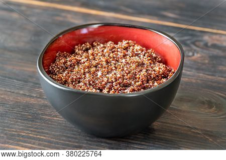 Bowl Of Cooked Red Quinoa