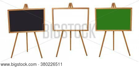 School board on a white background. Wooden board for teaching.