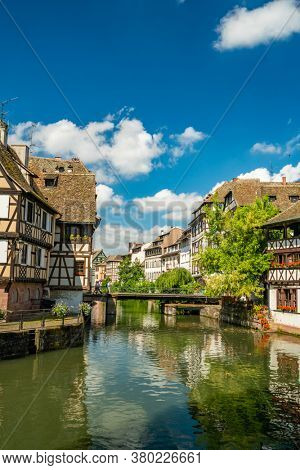 Strasbourg Alsace petite France area in the summer time