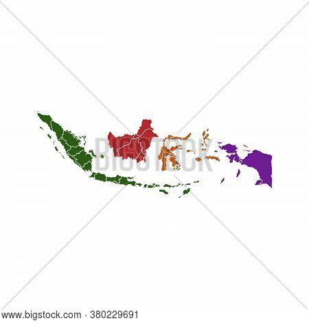Indonesian Map Vector Design Template Illustration