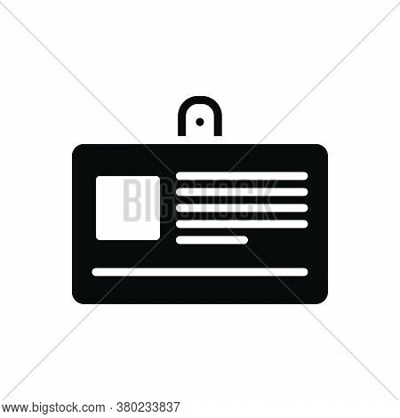 Black Solid Icon For Id-card Accessibility Identification  Pass Website Admit-card Permit Qualificat