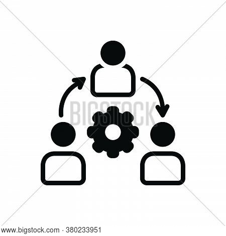 Black Solid Icon For Organization Conglomerate  Consortium Company Agency Management Users Community