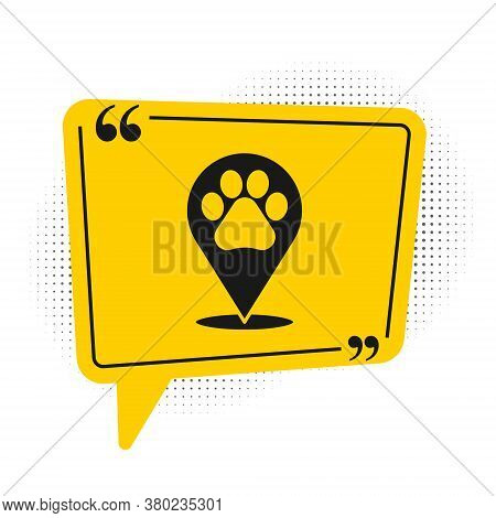 Black Map Pointer With Veterinary Medicine Hospital, Clinic Or Pet Shop For Animals Icon Isolated On