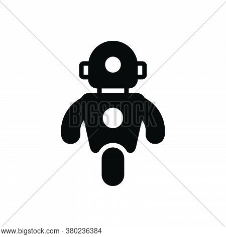 Black Solid Icon For Personal-droid Personal Droid Automated Data Exoskeleton Robot Robotic Machine