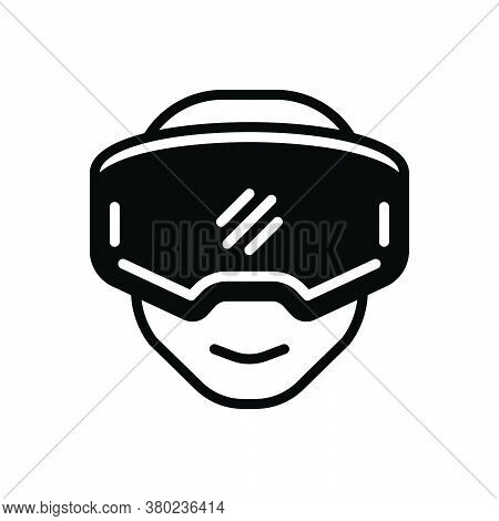 Black Solid Icon For Oculus-rift Gear Reality Rift Device Entertainment Headset Gaming