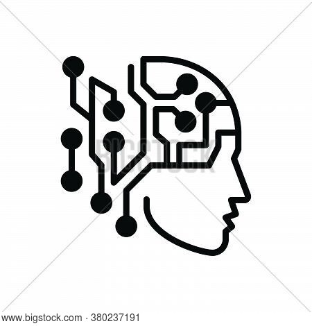 Black Solid Icon For Artificial-intelligence Artificial Intelligence Psychology Chip Mechanism Human