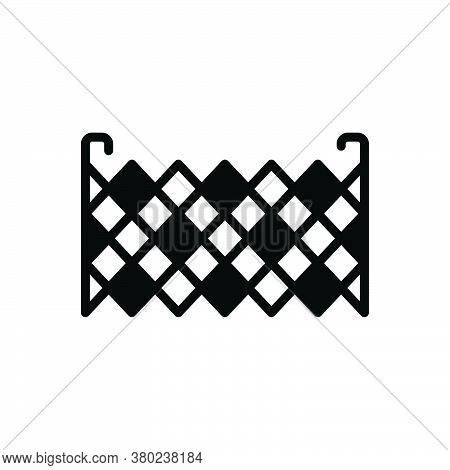 Black Solid Icon For Fence Barricade Barbed-wire Stockade Palisade Security Mesh Rampart Defense