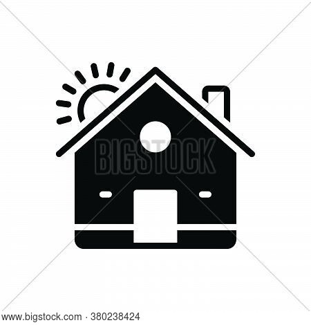 Black Solid Icon For House Residence Homestead Habitation Premises Mansion Domicile Architecture Pro