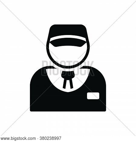 Black Solid Icon For Salesman Vendor Dealer Vender Marketeer Monger Business-man Broker