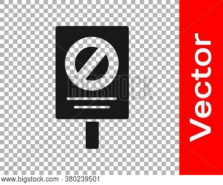 Black Protest Icon Isolated On Transparent Background. Meeting, Protester, Picket, Speech, Banner, P