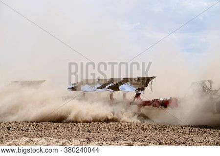 Farming Machinery, Plow Running In The Field, Fertile Land, The Agricultural Industry, The Steel Fra