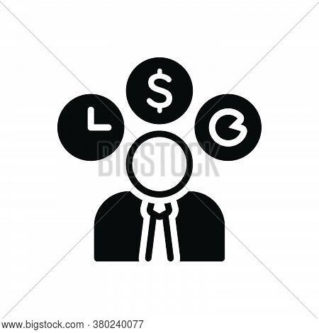 Black Solid Icon For Entrepreneur Dealmaker Hustler Professional Professed Occupational Business-man