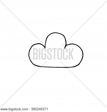 Vector Hand Drawn Doodle Sketch Cloud Isolated On White Background