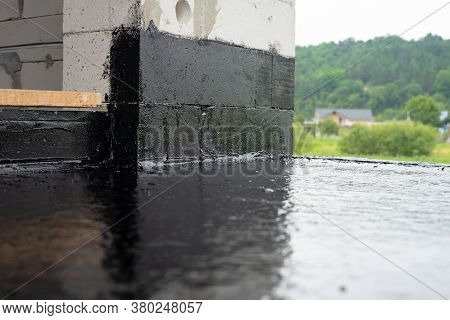 The Terrace Is Covered With A Layer Of Waterproofing Mastic
