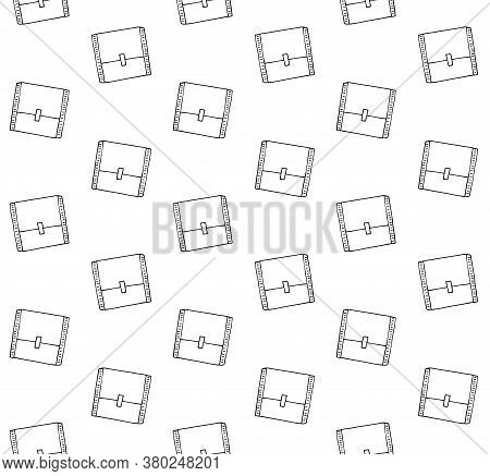 Vector Seamless Pattern Of Hand Drawn Doodle Sketch Menstrual Pad Pack Isolated On White Background