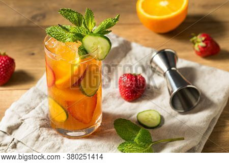 Refreshing Boozy Pimms Cup Cocktail