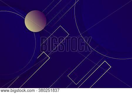 Hipster Landing Page Design. 3d In Dark Violet Neon Colors Wallpaper. Line Ball Primitive Figure Dia