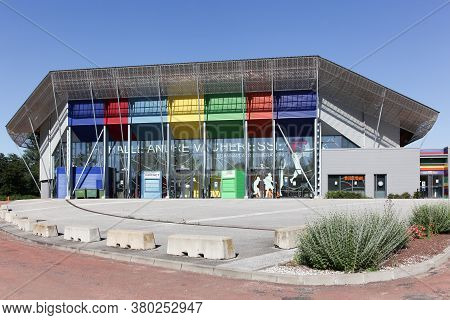 Roanne, France - May 31, 2020: Halle Andre Vacheresse Is An Indoor Sporting Arena Located In Roanne,