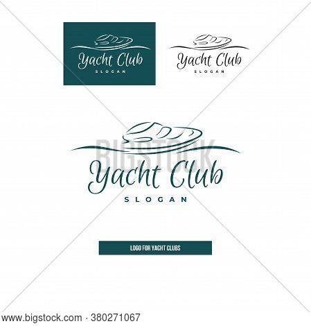 Yacht Or Boat For Yacht Clubs. Icon For Logo.