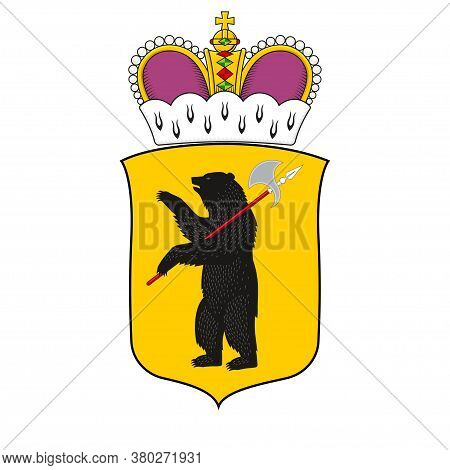 Coat Of Arms Of Yaroslavl Oblast Of Russia