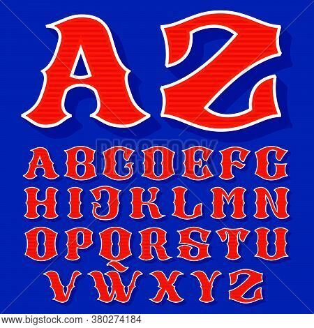 Classic Style Sport Alphabet. Retro Font Perfect To Use In Any Team Labels, Baseball Logos, College