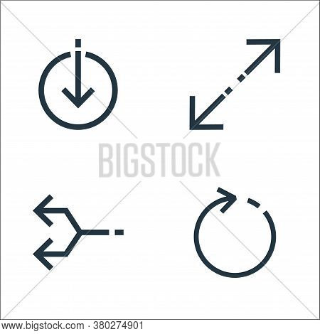 Arrows Line Icons. Linear Set. Quality Vector Line Set Such As Refresh, Junction, Expand Arrows
