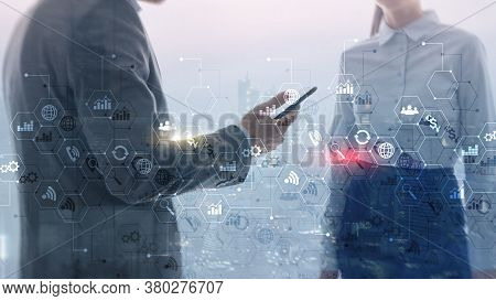 Ict - Information And Telecommunication Technology And Iot - Internet Of Things Concepts.
