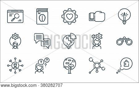 Life Skills Line Icons. Linear Set. Quality Vector Line Set Such As Speech Bubble, Tree, Skills, Cat