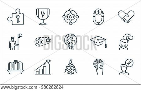 Life Skills Line Icons. Linear Set. Quality Vector Line Set Such As Man, Divider, Bookshelf, Touch,