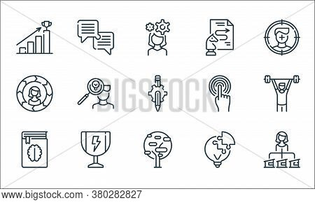 Life Skills Line Icons. Linear Set. Quality Vector Line Set Such As Woman, Tree, Book, Light Bulb, T