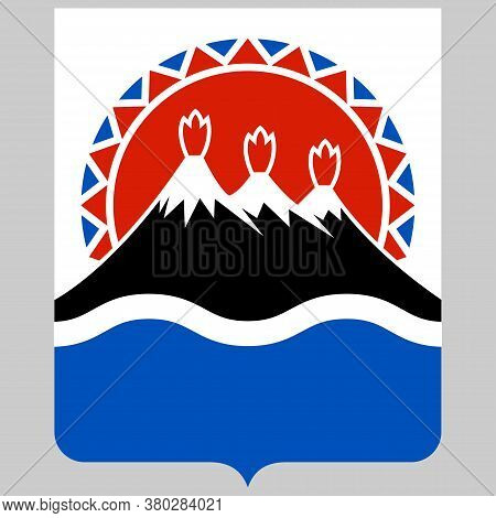 Coat Of Arms Of Kamchatka Krai In Russian Federation