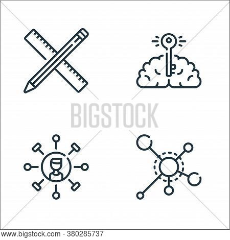 Life Skills Line Icons. Linear Set. Quality Vector Line Set Such As Categories, Skills, Brain