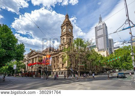December 28, 2018: Melbourne Town Hall Is The Central City And Town Hall, And Is A Historic Building